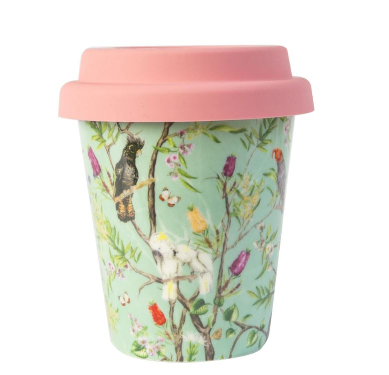 Ceramic Coffee Cup - Australian Chinoiserie Design