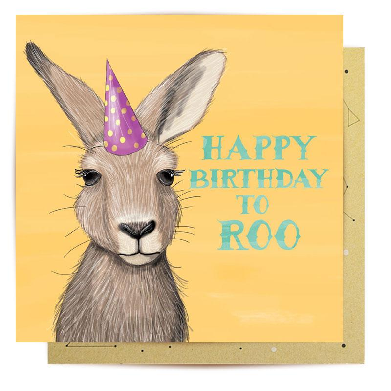 Mini Gift Card - Happy Birthday to Roo (with envelope)