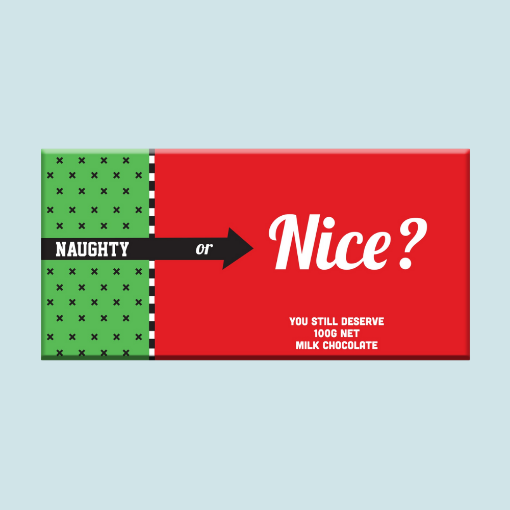 Chocolate Bar (Milk) - Naughty or Nice 100g