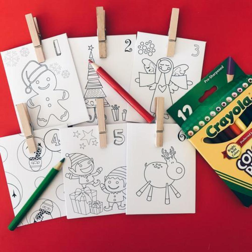 24 Day Advent Calendar - Christmas Countdown (Colouring In Gift Tube)