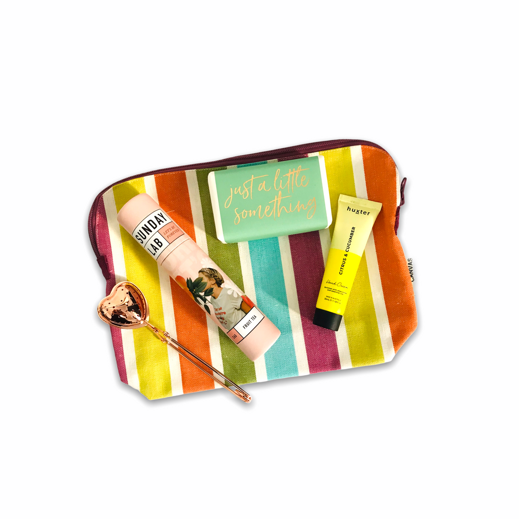 Just a Little Something - Striped Toiletry Bag Gift Pack