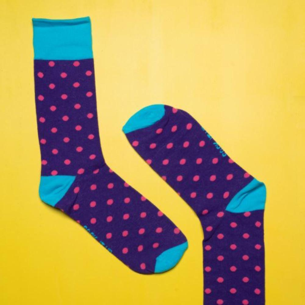 Sock It Up Socks - Pink Spot Design
