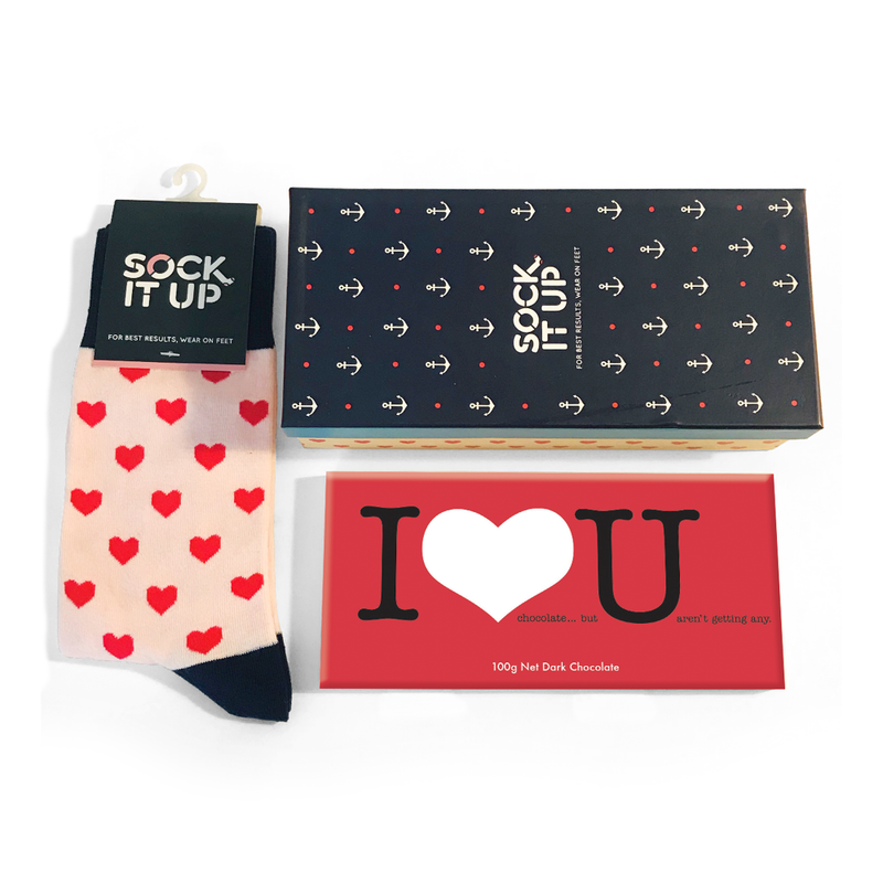 Sock It Up Love Hearts Gift box