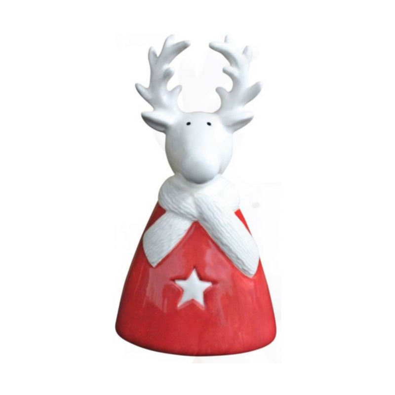 Reindeer wearing Scarf Decoration (Small)