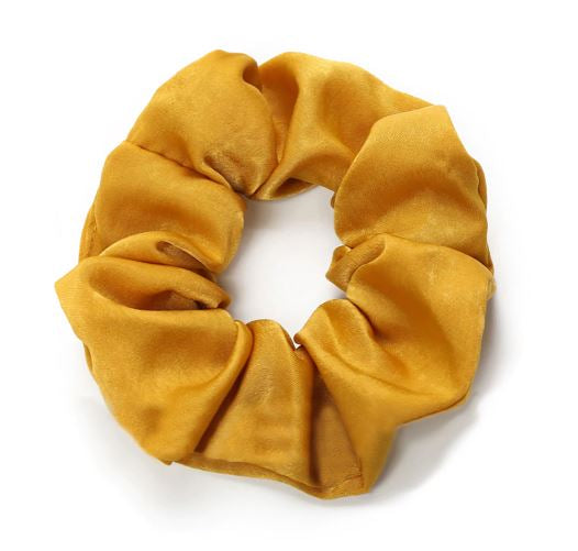 Mustard Colour Scrunchie