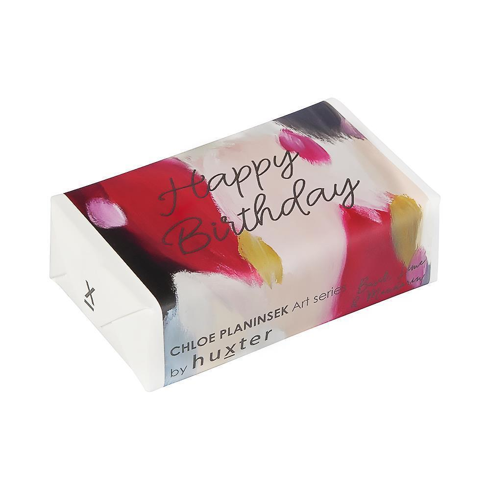 Happy Birthday Gift Wrapped Soap (Basil Lime & Mandarin)