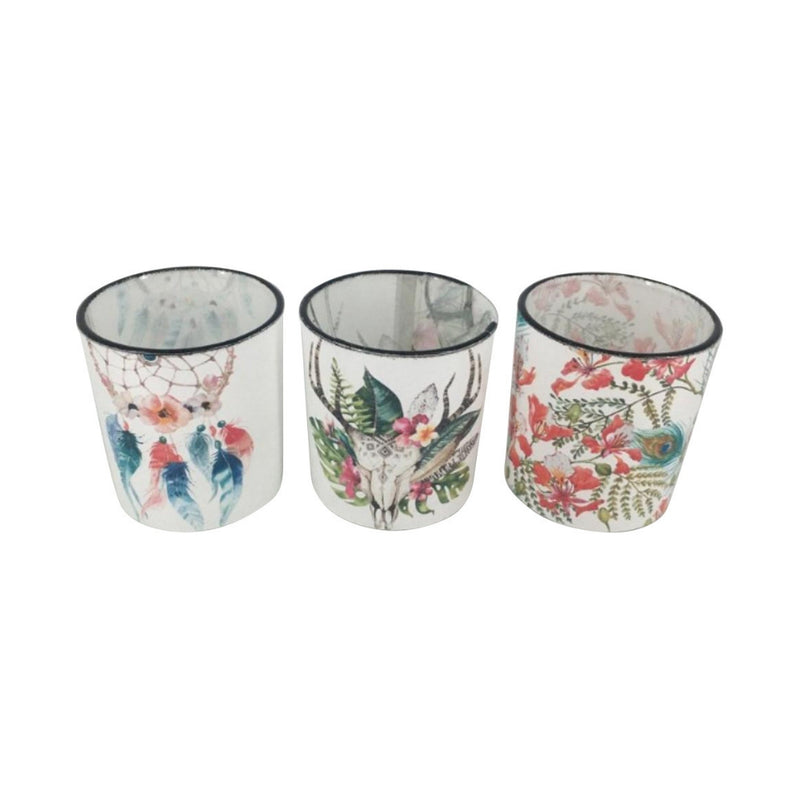 Tea Light Glass Candle Holders (Set of 3)
