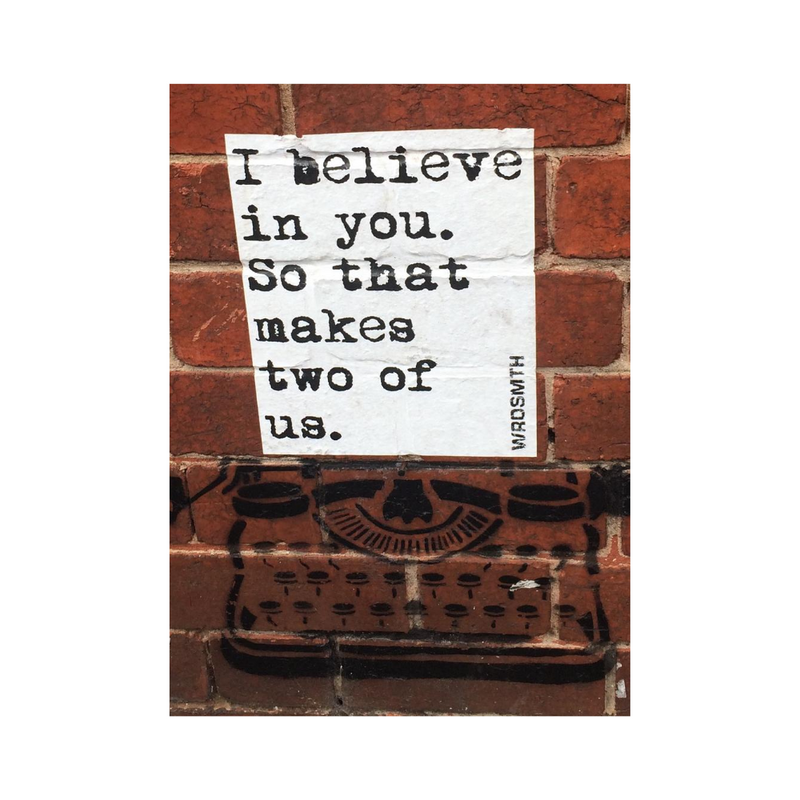 "Greeting Card (Pack of 2) ""I Believe in You"" (Portrait)"
