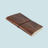 Leather Notebook - Leaf Design