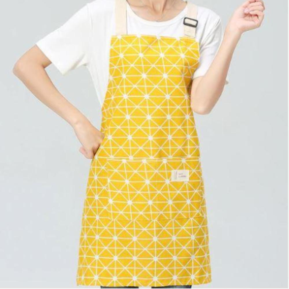 Yellow Linen & Cotton Apron - Adjustable