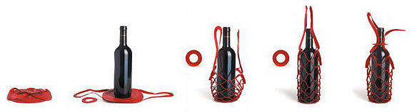 Bottle Holder/Sling (Red and Black)