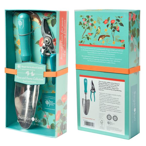 Flora & Fauna Gift Boxed Trowel and Secateurs