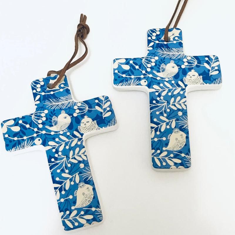 Hanging Cross Xmas - Bird (small)