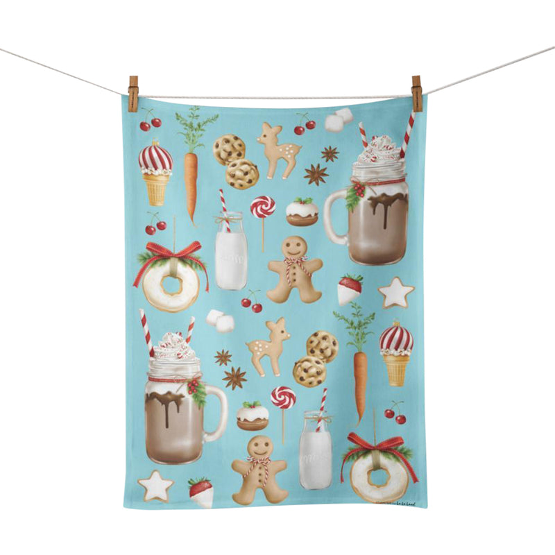 Tea Towel - Sugar Sweet Christmas Design