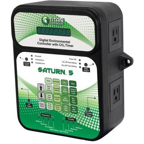 Titan Controls Saturn 5 - Digital Environmental Controller w/ CO2 Timer