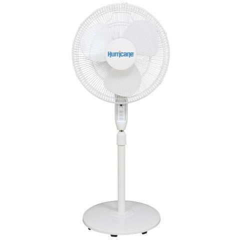 Hurricane Supreme Oscillating Stand Fan w/ Remote - 16 in - White
