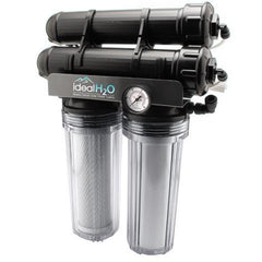 Ideal H2O Premium 3 Stage RO System w/ Upgraded Catalytic Carbon Pre Filter + PSI Gauge - 200 GPD