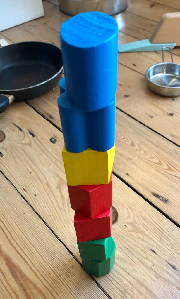 Tower that a kid has built