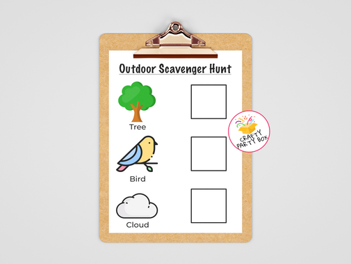 Toddler Outdoor Scavenger Hunt