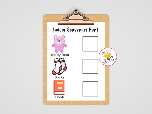Toddler Indoor Scavenger Hunt