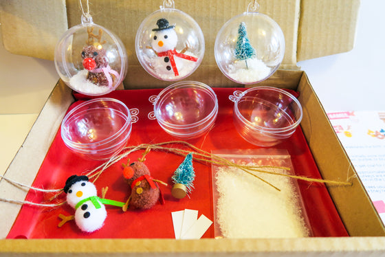 Christmas Snow Figurines Bauble Kit