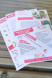 Spring Box Activity Sheets | Crafty Party Box | Kids Craft Boxes For Ages 3 - 12