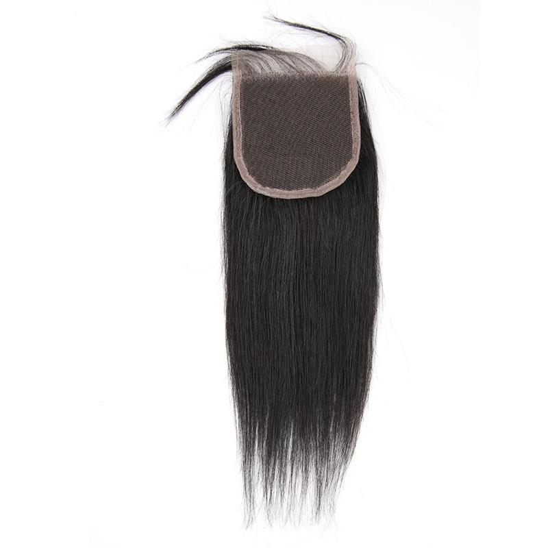 Lace Closure Straight Brazilian Virgin Hair | 4X4 Free Part