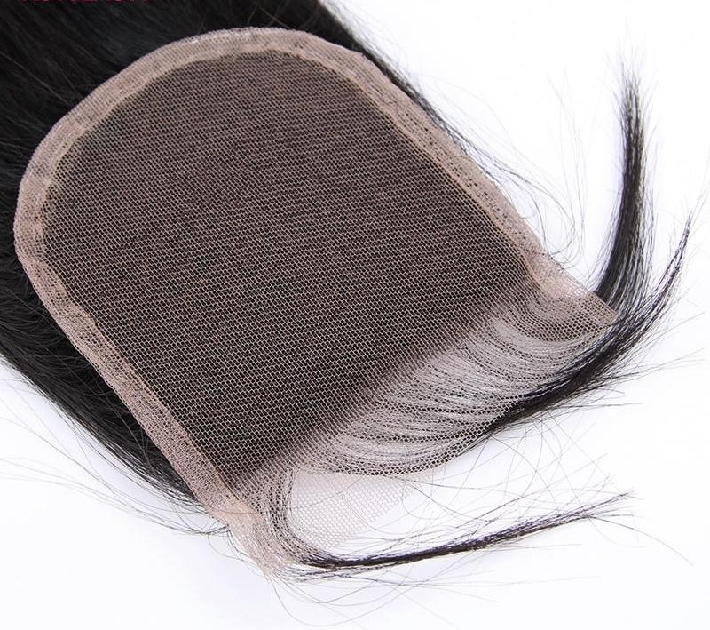 Lace Closure |  Pre Plucked Straight Peruvian Remy Hair 4X4 Free Part