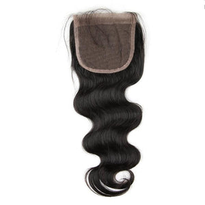 Lace Closure | Pre Plucked Peruvian Body Wave Remy Hair |  4*4 Free