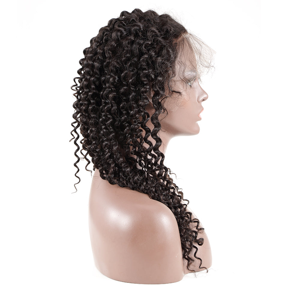 Brazilian Remy Human Hair Deep wave | 360 Lace Frontal | Pre Plucked