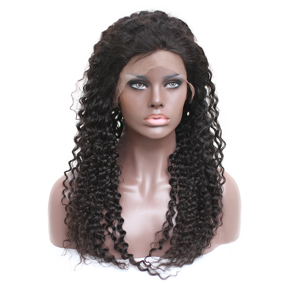 Brazilian Curly Human Hair Wigs | 360 Lace Frontal | 250% Density | Pre-Plucked