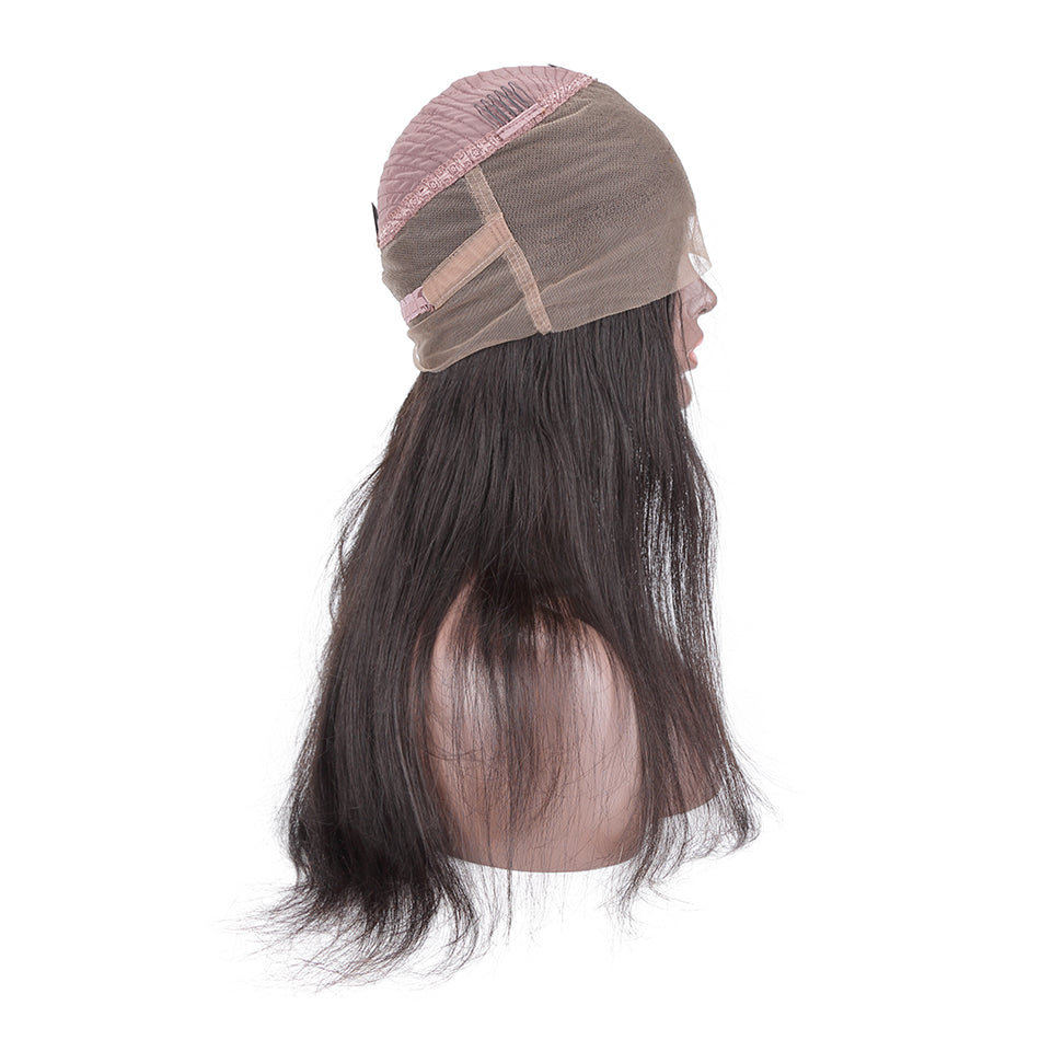 360 Lace straight human hair Wigs | Pre-plucked Hairline | 250% density