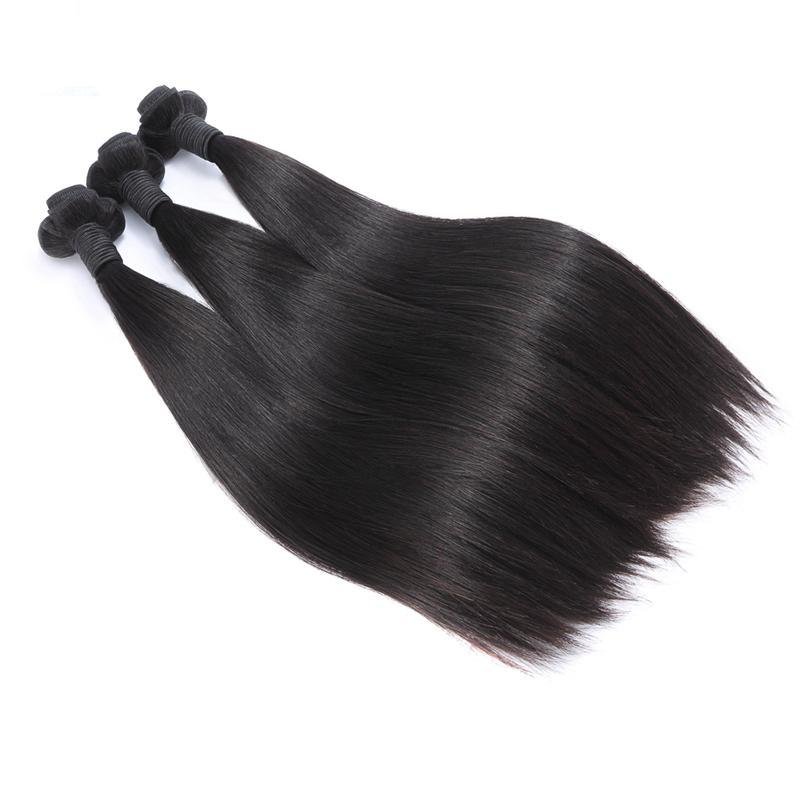 Double Drawn Brazilian Straight Human Hair Weave | 3 Bundles deals