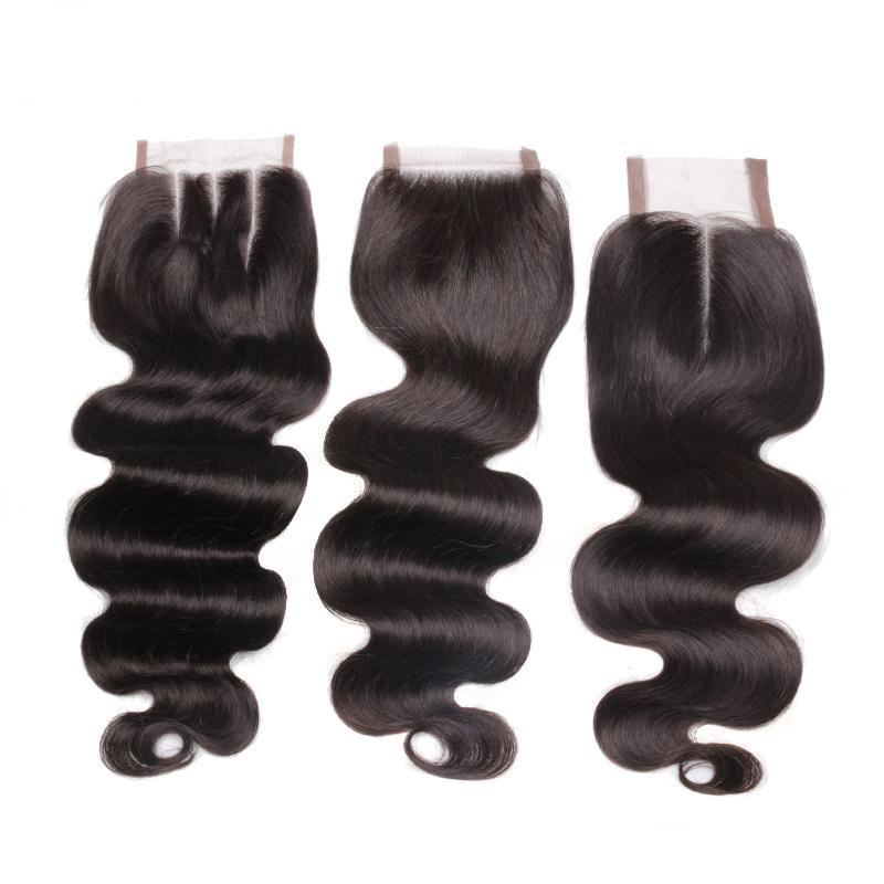 Lace Closure 4X4 Brazilian Body Wave Human Hair Free Part/Middle Part/Three Part