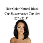 Brazilian body Wave bob human hair wigs | With Baby Hair | Lace Front