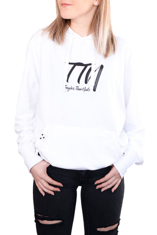 TTN White Lightweight Pullover Hoodie – Iconic Logo