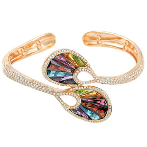 BELLARRI La Bouquet - Bangle (Rose Gold, Diamonds, Multi Color Gemstones)