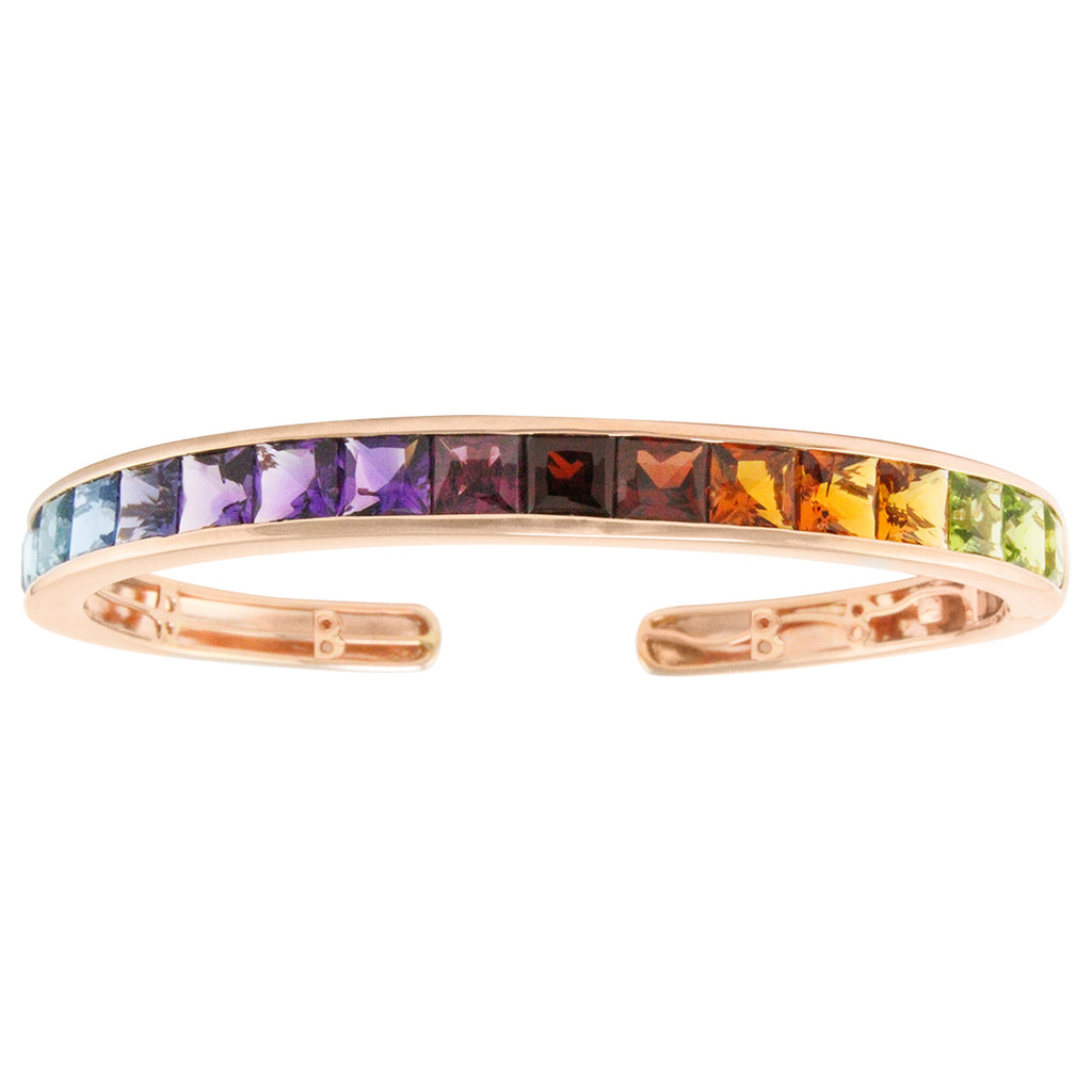 BELLARRI Eternal Love - Bangle (Rose Gold with Multi Color Gemstones)