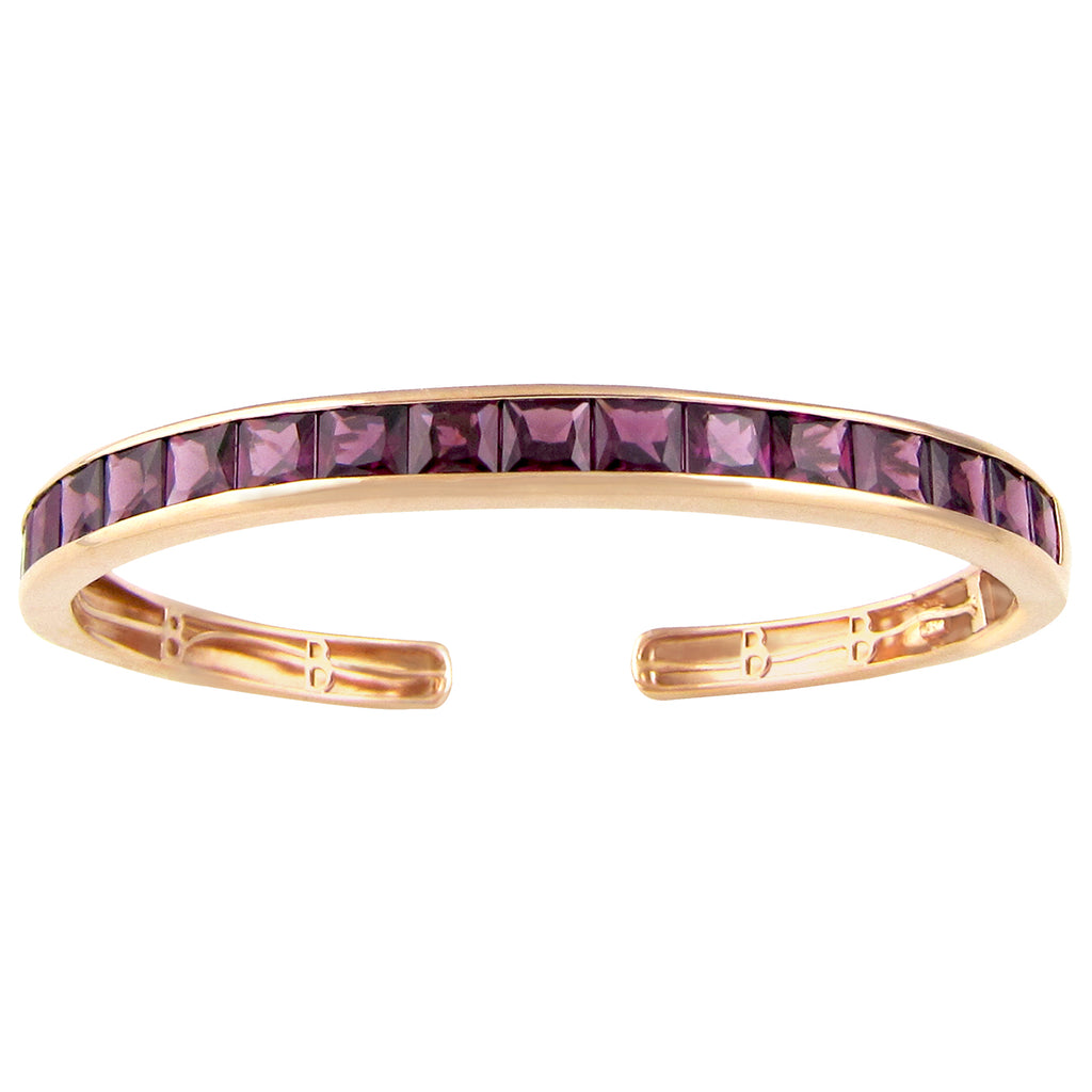 BELLARRI Eternal Love - Bangle (Rose Gold with Rhodolite Gemstones)