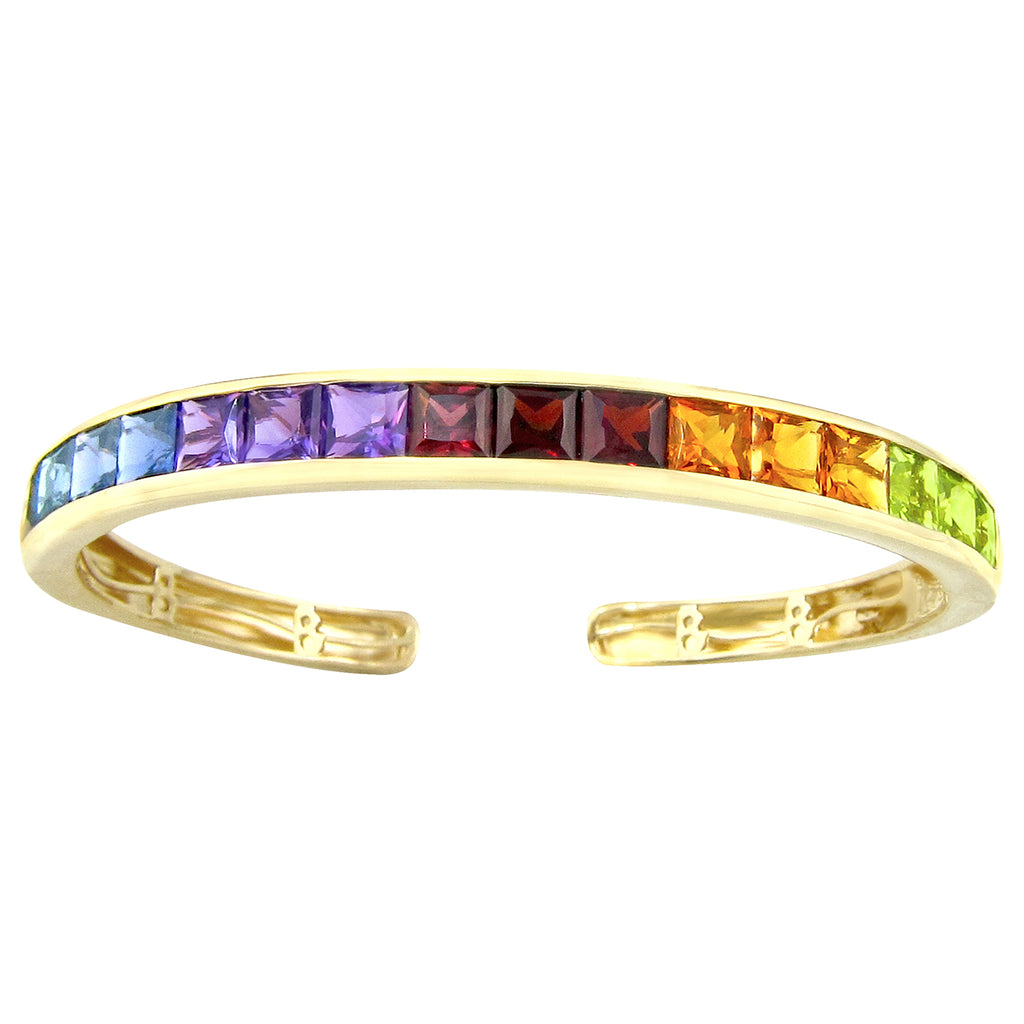 BELLARRI Eternal Love - Bangle (Yellow Gold with Multi Color Gemstones)