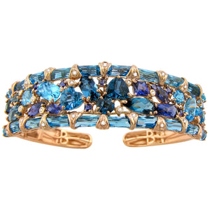 BELLARRI Marquesa - Bangle (Blue Topaz, Iolite and Diamonds)