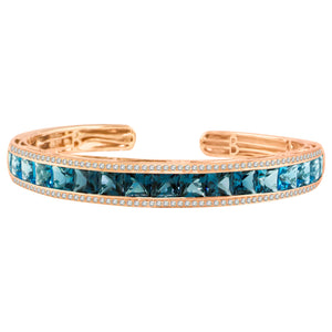 BELLARRI Eternal Love - Bangle (Rose Gold / Blue Topaz)