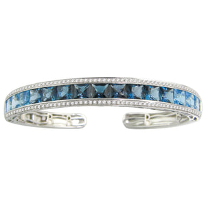 BELLARRI Eternal Love - Bangle (White Gold / Blue Topaz / Diamonds)