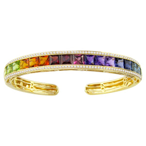 BELLARRI Eternal Love - Bangle (Yellow Gold / Multi Color Gemstone)