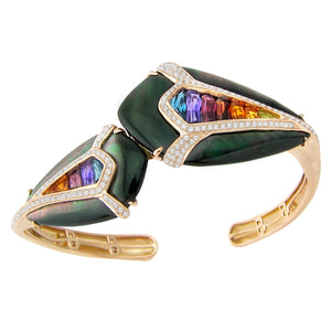 BELLARRI Aladdin Nouveau I Black Mother of Pearl Bangle