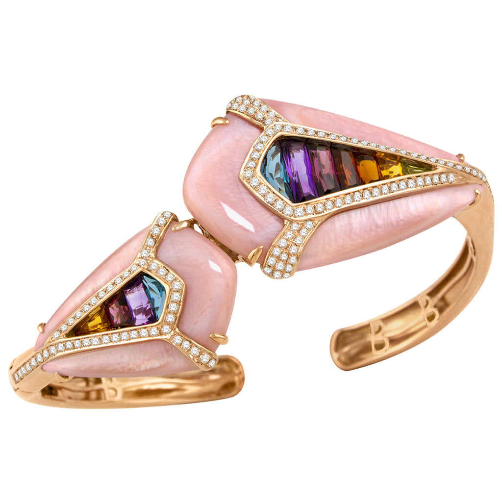 BELLARRI Aladdin Nouveau I Pink Mother of Pearl Bangle