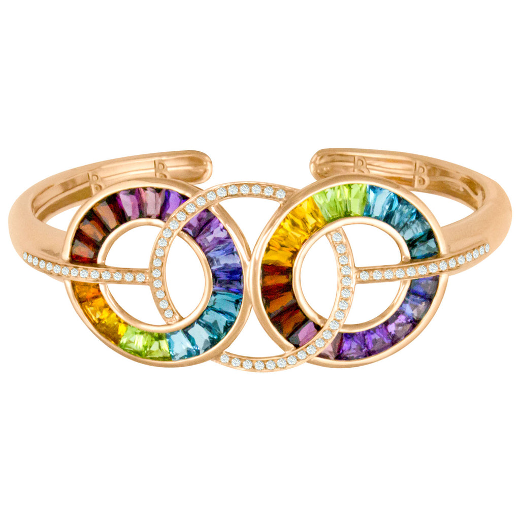 BELLARRI Malibu - Bangle (Multi Color Gemstones)