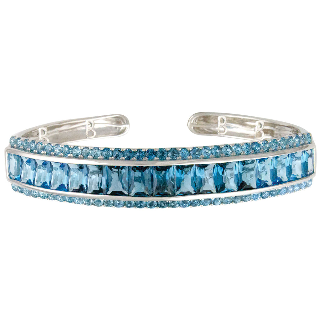 BELLARRI Eternal Love - Bangle (White Gold / Blue Topaz)