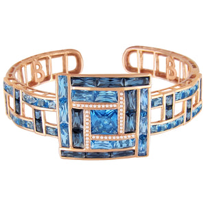 BELLARRI Galaxy of Love - Bangle (Rose Gold / Diamonds / Blue Topaz)