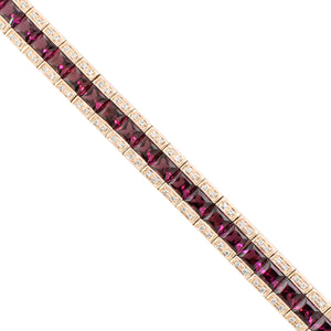 BELLARRI Eternal Love - Bracelet (Rose Gold / Rhodolite / Diamonds) close up